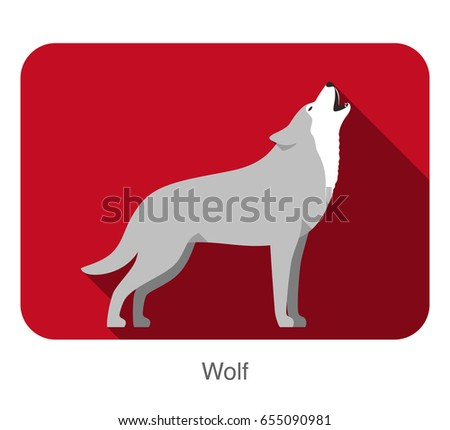 wolf standing and roaring