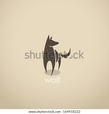 wolf symbol   vector
