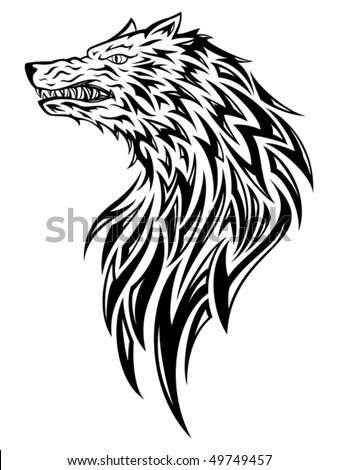 wolf tattoo designs. tribal wolf tattoos.