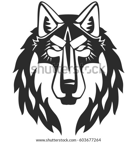 wolf vector head perfect for