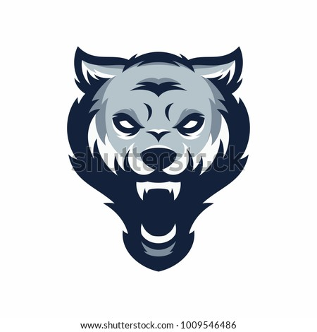 wolf - vector logo/icon illustration mascot