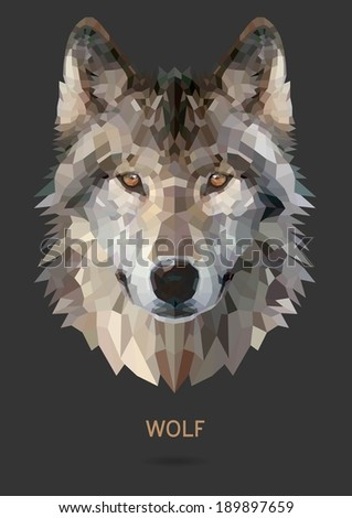 wolf vector polygon geometric