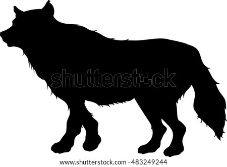free wolf silhouette vector - download free vector art, stock