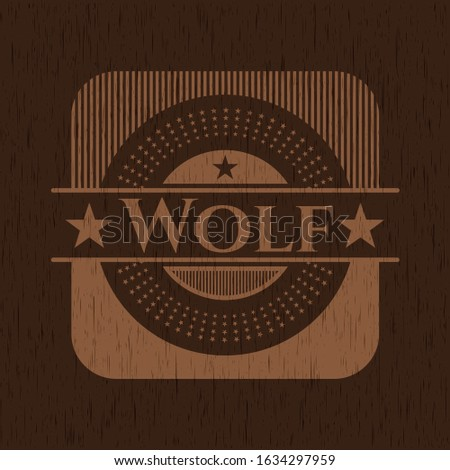 Wolf wooden signboards. Vector Illustration.