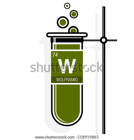 Royalty free stock photos and images wolframio symbol tungsten wolframio symbol tungsten in spanish language on label in a green test tube with urtaz Choice Image