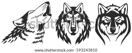 wolfs vector heads set perfect