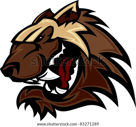 wolverine badger mascot head