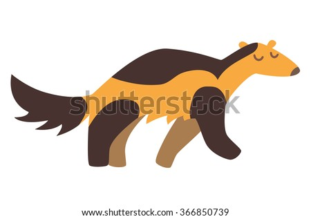 wolverine flat cartoon vector