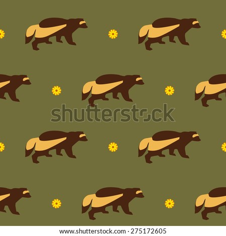 wolverine in the field