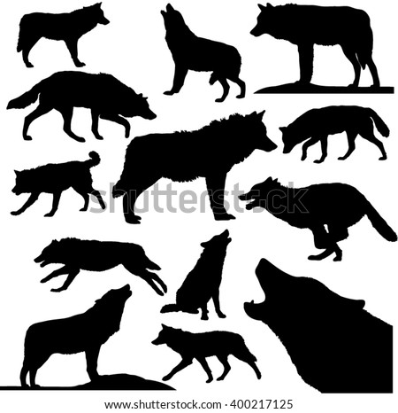 Wolves Outline Collection