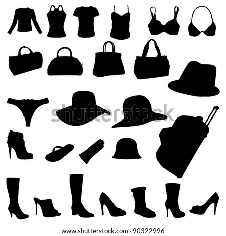 woman accessory vector
