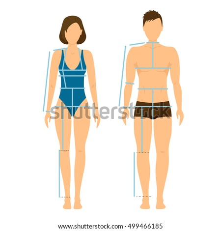 woman and man body front and