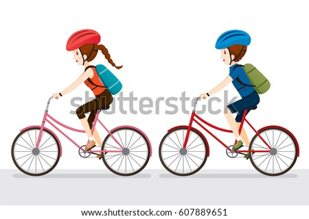 woman and man riding bicycle