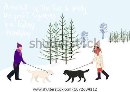 woman and man with dogs for a