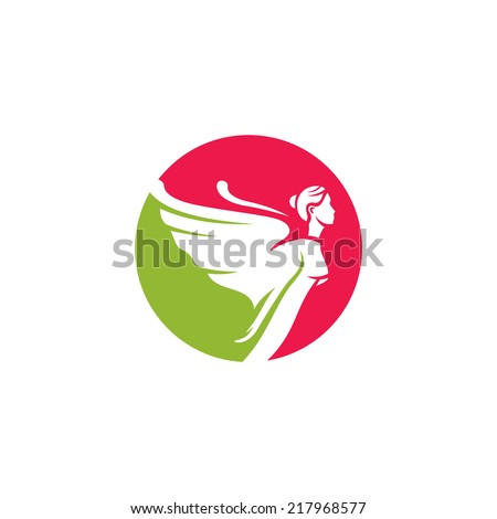 woman angel abstract sign