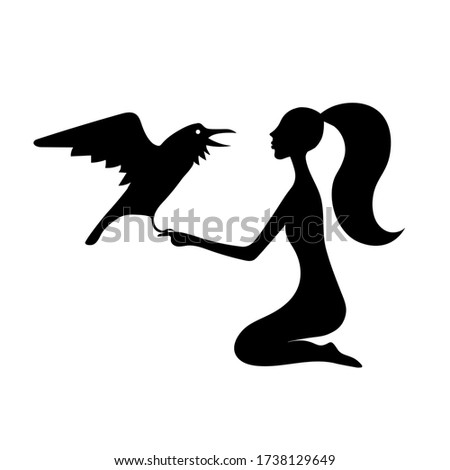 woman asks the raven gothic