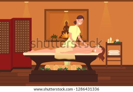 woman at massage therapist
