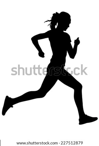 stock-vector-woman-athletes-on-running-race-on-white-background