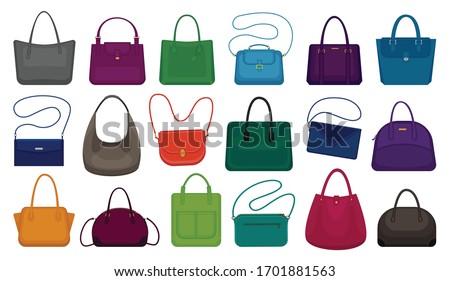 Woman bag isolated cartoon set icon. Vector illustration handbag on white background. Vector cartoon set icon woman bag. ストックフォト ©