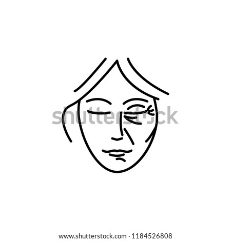 Woman beauty anti-aging  icon. Element of beauty and anti aging icon for mobile concept and web apps. Thin line Woman beauty anti-aging  icon can be used for web and mobile on white background