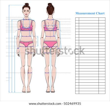 Royalty-free Woman body measurement chart. Scheme… #512271700 Stock ...