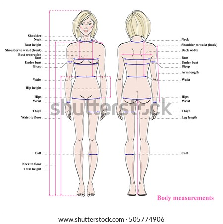 image regarding Printable Body Measurement Chart for Sewing known as Girl system dimensions chart. Plan Inventory Image 486865537
