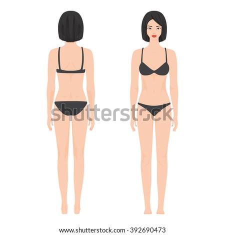 woman body template vector