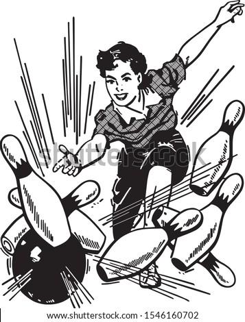 woman bowling strike   america