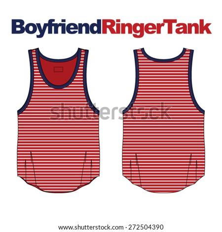 woman boyfriend ringer tank