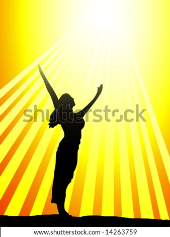 woman celebrating the sun