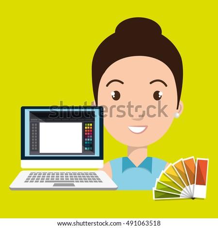 woman chart color pc