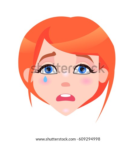 woman crying face with pink