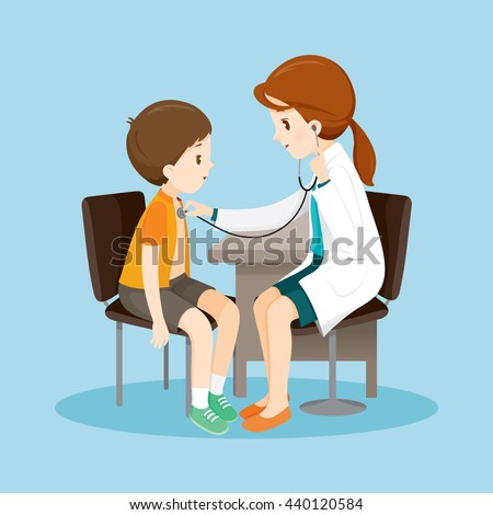 Woman Doctor Examining Patient By Stethoscope, Medical, Physician, Hospital, Checkup, Healthy, Treatment, Personnel