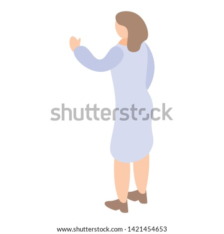 Woman doctor genetic scientific icon. Isometric of woman doctor genetic scientific vector icon for web design isolated on white background