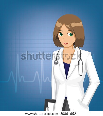 woman doctor with pulse
