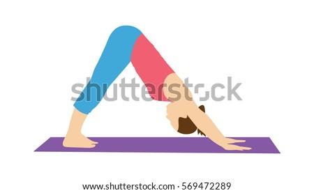 woman doing yoga or pilates