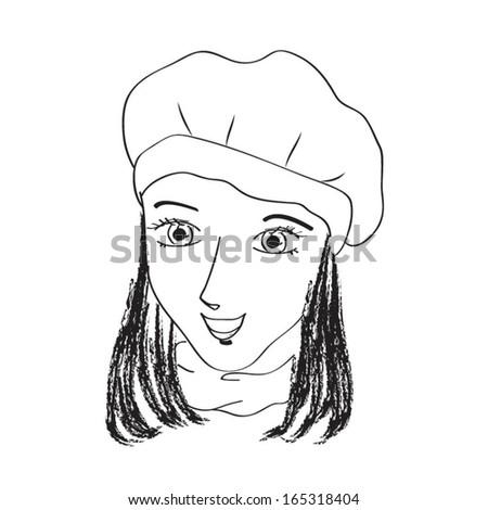 Woman Doodle Sketch