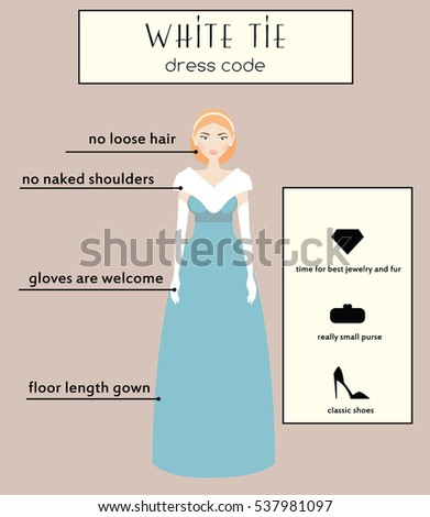 woman dress code infographic