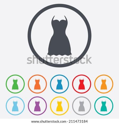 woman dress sign icon elegant