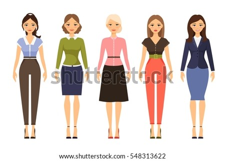woman dresscode vector