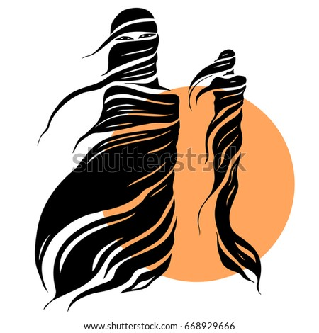 woman east type in veil