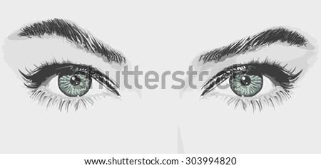 woman eyes vector illustration