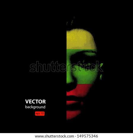woman face illustration