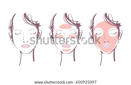 woman face with beauty mask
