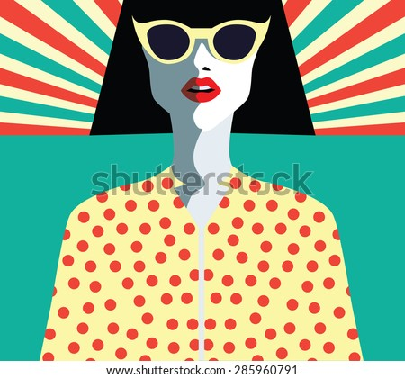woman fashion with sunglasses