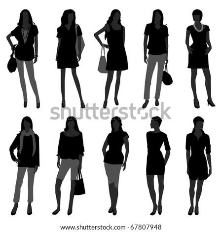 Woman Female Girl Fashion Shopping Model