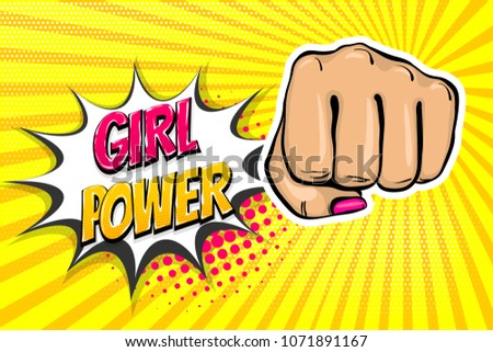 woman fist   girl power strong