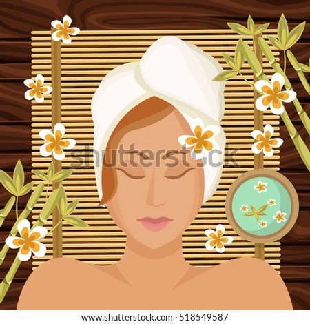woman getting spa treatment