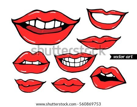 woman  girl lips isolated on