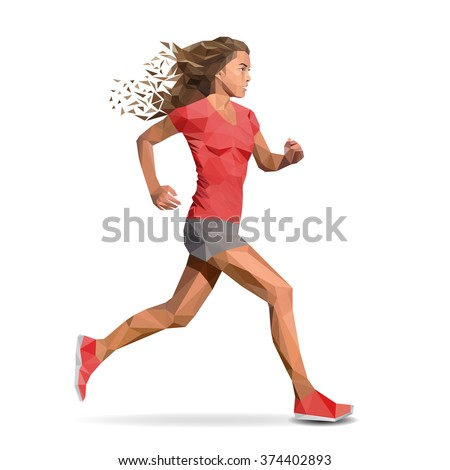 woman  girl running marathon